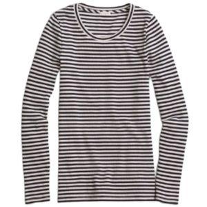 J.CREW Navy & Pink Long Sleeve Top Size XS